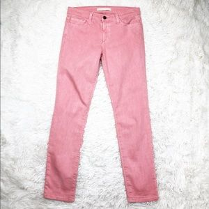Joe's Jeans pink straight ankle jeans size 27